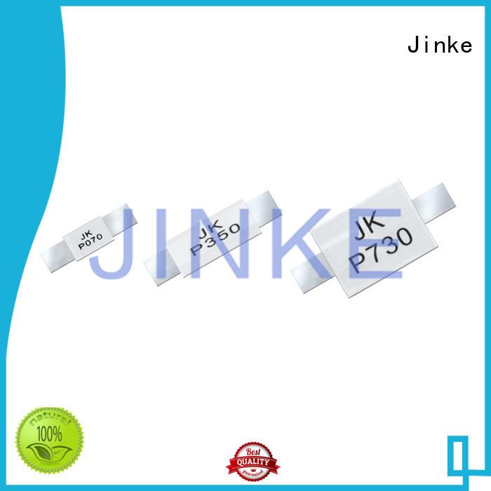 Jinke Brand strap fuse ptc thermistor pptc factory